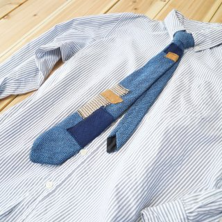 ネクタイTSUGIHAGI BORO/三河木綿刺し子織