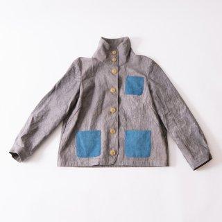 えりがわりブルゾン/グレー/三河織物