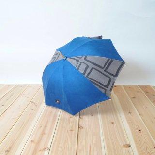 日傘/ブルー× 墨/三河織物