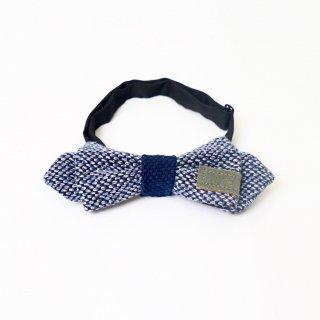 蝶ネクタイ/かすりインディゴ/三河木綿 刺し子織