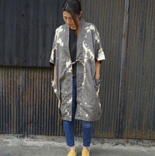 カジュアル羽織り 五月雨 柿渋 抜染 デザイン 春 夏 秋