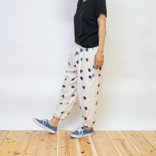 もんぺ/手描きuzu豆絞り/三河織物