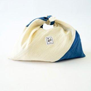 あずま袋 ツートン/ブルー/三河織物
