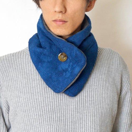柔道着マフラー/本藍染/三河木綿 刺し子織