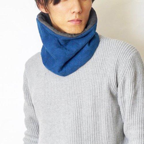 柔道着ネックウォーマー/本藍染/三河木綿 刺し子織