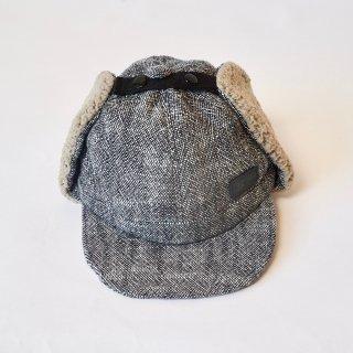 耳あて付きキャップ/モノトーン/遠州織物