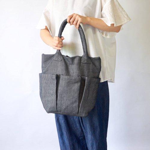 ベジバッグ/立涌 (たてわく)/三河木綿 刺し子織