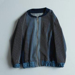 刺し子ですかジャン/三河木綿 刺し子織