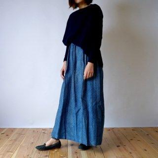 マキシスカート/四つ目/三河木綿 刺し子織