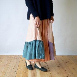 ハンドステッチスカート/ピンク/三河織物