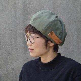 もこもこベレー帽 /ミリタリーカーキ/三河織物