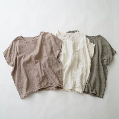ゆったりガーゼTシャツ/ナチュラル 3カラー/知多木綿 ダブルガーゼ