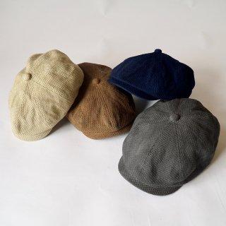 刺し子織ハンチング/4カラー/三河木綿 刺し子織