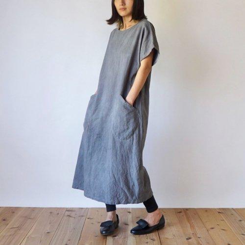 カジュアルワンピース/グレー/三河織物