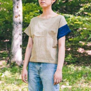 ゆるさらブラウス/カーキ/三河織物