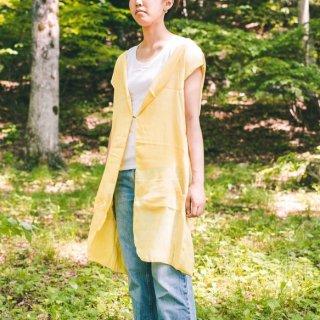 ロング ジレ/イエロー/三河織物