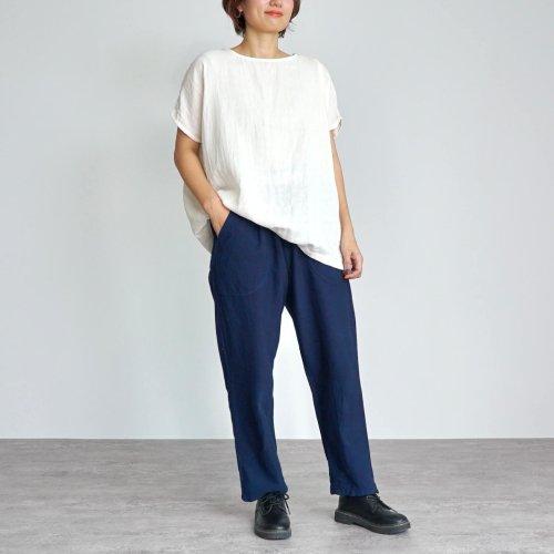 『夏の福袋』ゆったりガーゼTシャツ(生成り) + サルエルパンツ(ブルーグレー )