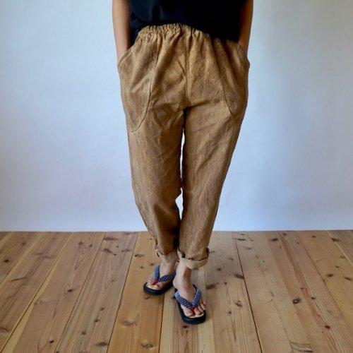 『福袋』手編み草履 &サルエルパンツ(ブラウンベージュ) 2点セット