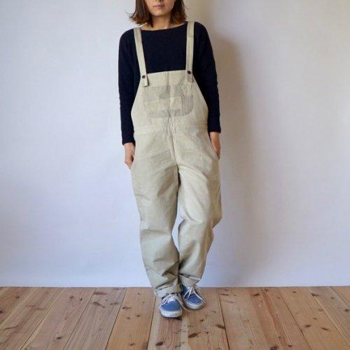 パチポケ サロペット/カーキ/三河織物 綾織