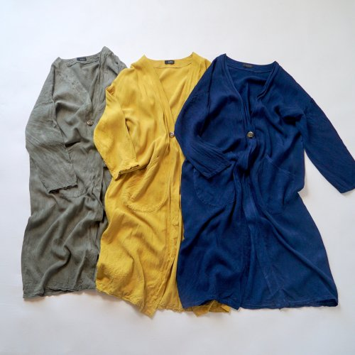 羽織ガウン/3カラー/三河織物 レーヨン