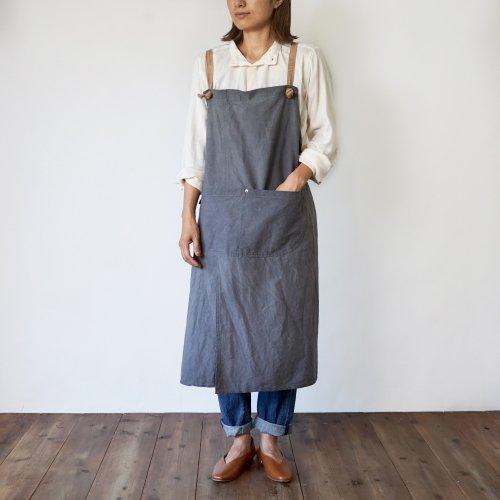 クロスエプロン/グレー/三河織物 綾織