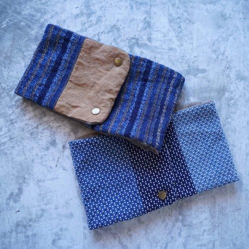 コットンネックウォーマー(マフラー)/インディゴ2カラー/遠州織物 知多木綿ガーゼ