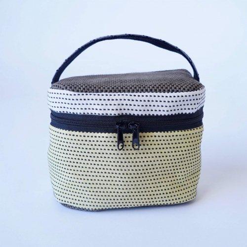 バニティポーチ/パッチワーク/三河木綿 刺し子織