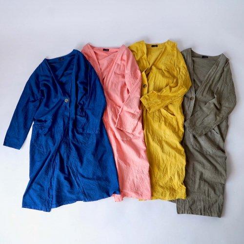 コットン羽織ガウン/春色4カラー/三河織物