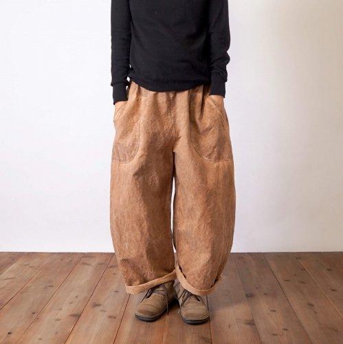 バルーンパンツ/ブラウン/三河織物