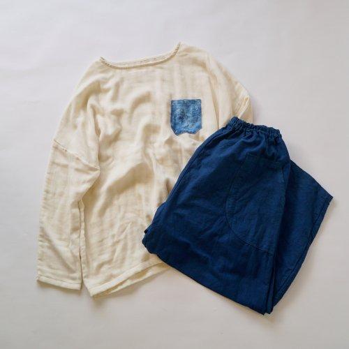 『福袋』ゆったりガーゼロンT + サーカスパンツ/ブルーコーデ