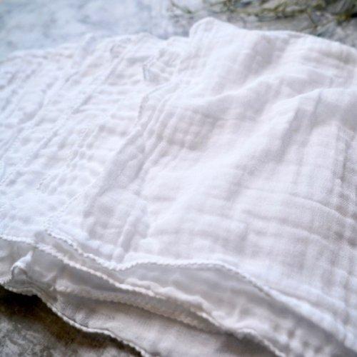 【10枚セット】くしゅっと柔らかハンカチ/手作りガーゼマスク素材用に/知多木綿