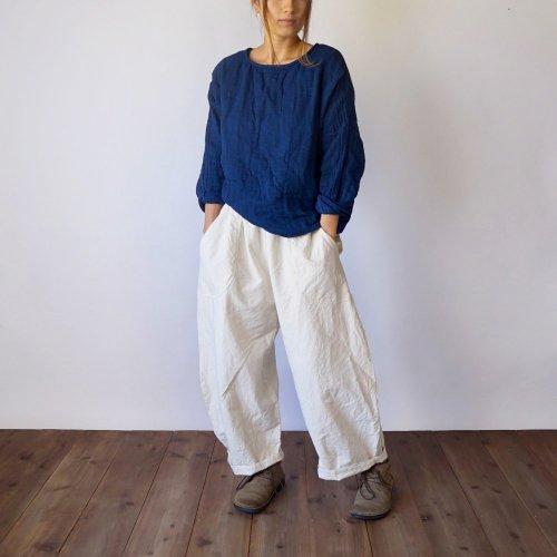 『福袋』ゆったりガーゼロンT/インディゴブルー + バルーンパンツ/生成り
