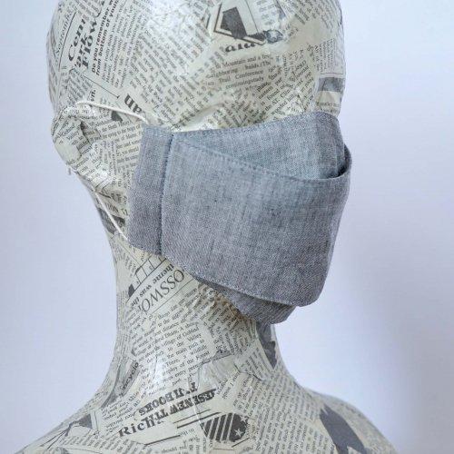 モノトーン マスク/グレー/三河織物 知多木綿
