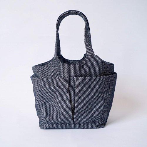 ベジバッグ (手提げ) /立涌/三河木綿 刺し子織