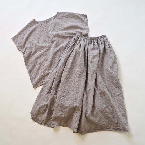 『夏の福袋』ワンピース風セパレートセットアップ/ドットグレー/遠州織物