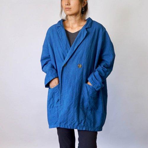 だるまコクーンジャケット/ブルー/三河織物