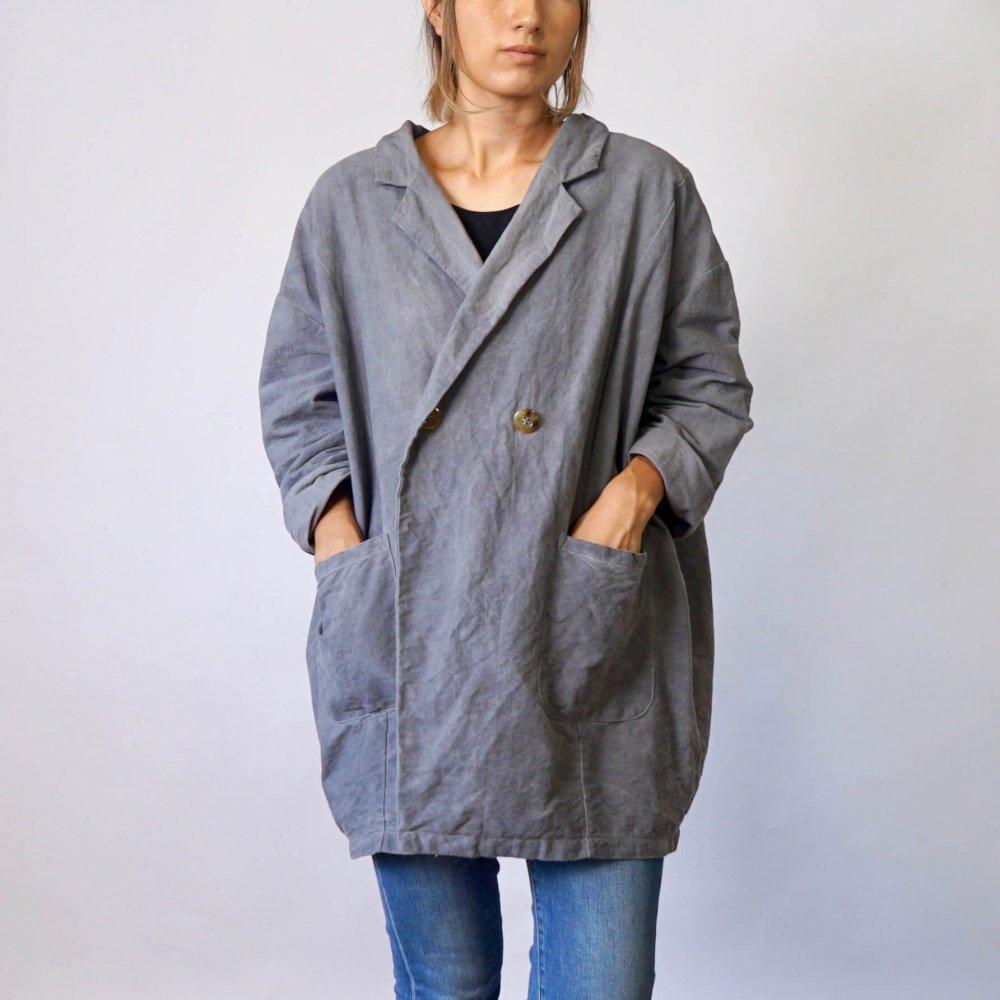 だるまコクーンジャケット/グレー/三河織物