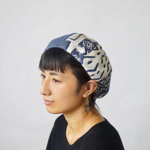 もこもこベレー帽 -UMIBE- /尾州ジャガードニット