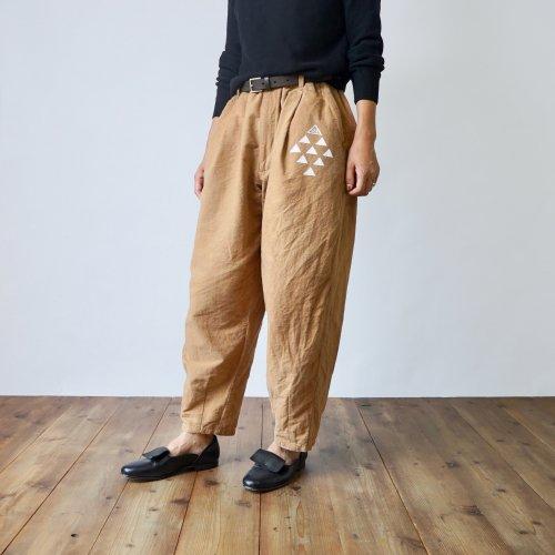 ボンタンパンツ/ ベージュブラウン/三河織物