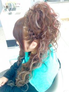 ヘアセット 盛り髪ヘアセット