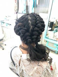 ヘアセット ブラックヘアニュアンスのヘアセット