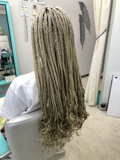 ブレイスヘア ブロックサイズL 長さセイムレイヤー 毛先カール加工