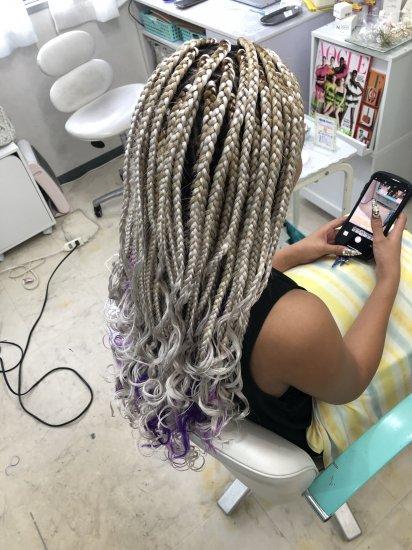 ブレイズヘア ブロックサイズL 長さミディアム 毛先カール加工【画像2】
