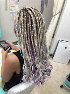 ブレイズヘア ブロックサイズL 長さミディアム 毛先カール加工