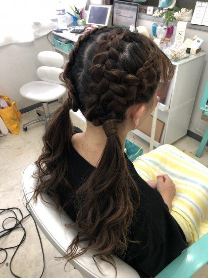 ブラックヘアニュアンスのヘアセット30min【画像2】