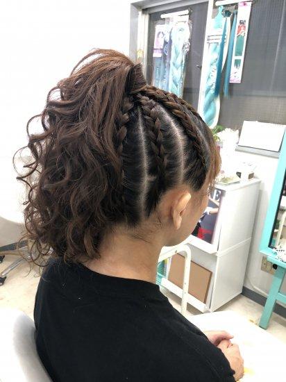 ブラックヘアニュアンスのヘアセット 50min【画像2】