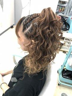 ギャラリー ブラックヘアニュアンスのヘアセット 50min