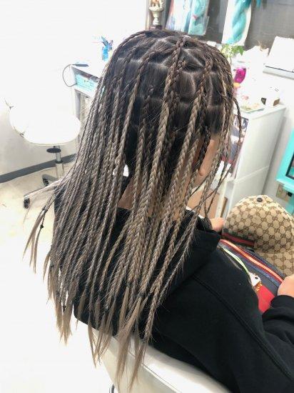 ブラックヘアニュアンスのヘアセット90分