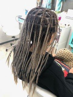 ギャラリー ブラックヘアニュアンスのヘアセット90分