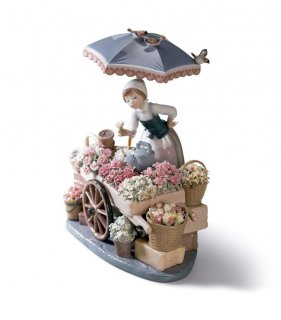 リヤドロ 人形  『公園通りの花屋さん  01001454 FLOWERS OF THE SEASON』
